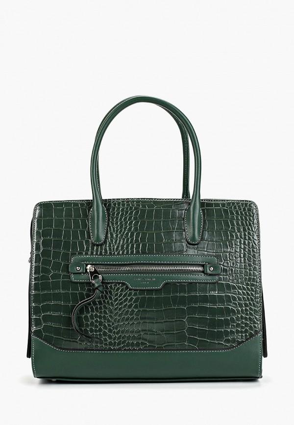 женская сумка david jones, зеленая