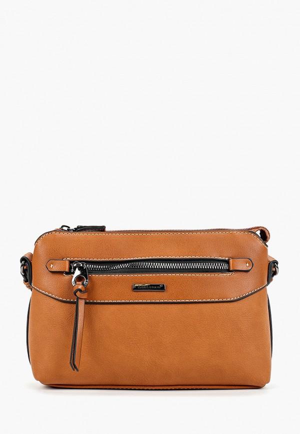 женская сумка david jones, коричневая