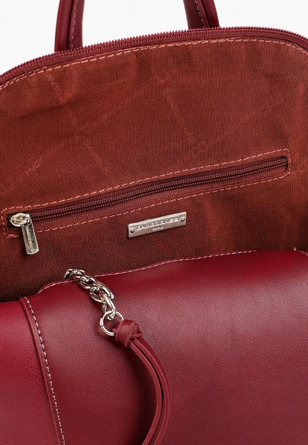 Фото 3 - женский рюкзак David Jones бордового цвета