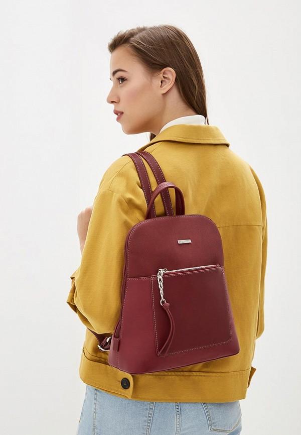 Фото 4 - женский рюкзак David Jones бордового цвета