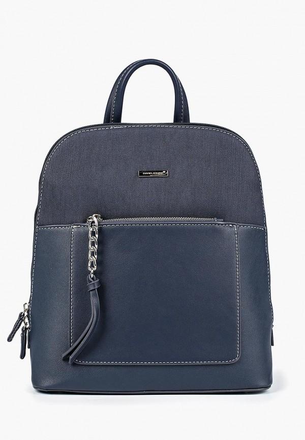 Фото - женский рюкзак David Jones синего цвета