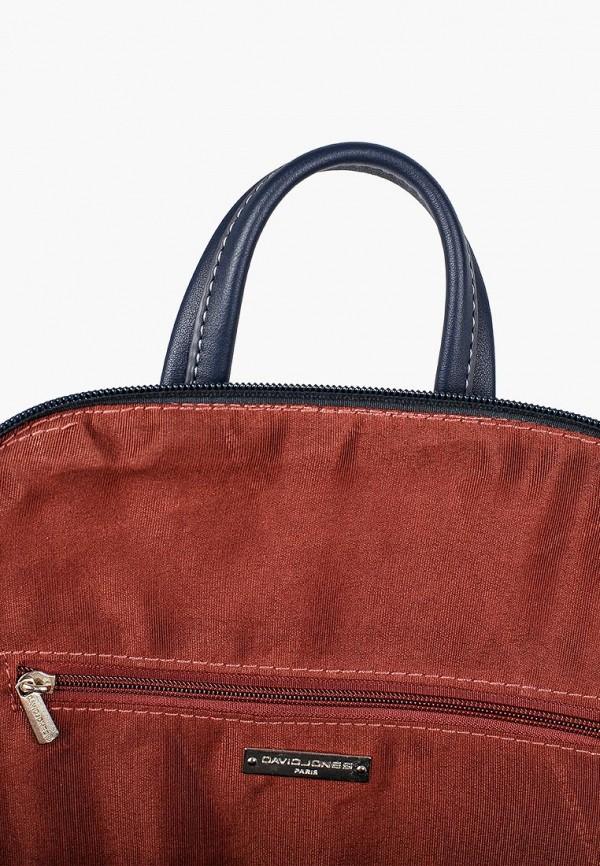 Фото 3 - женский рюкзак David Jones синего цвета