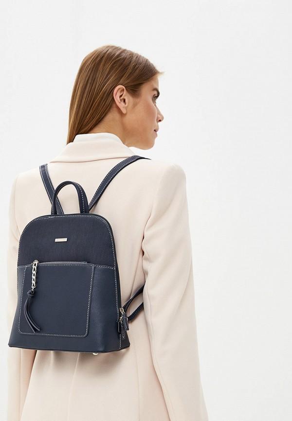 Фото 4 - женский рюкзак David Jones синего цвета