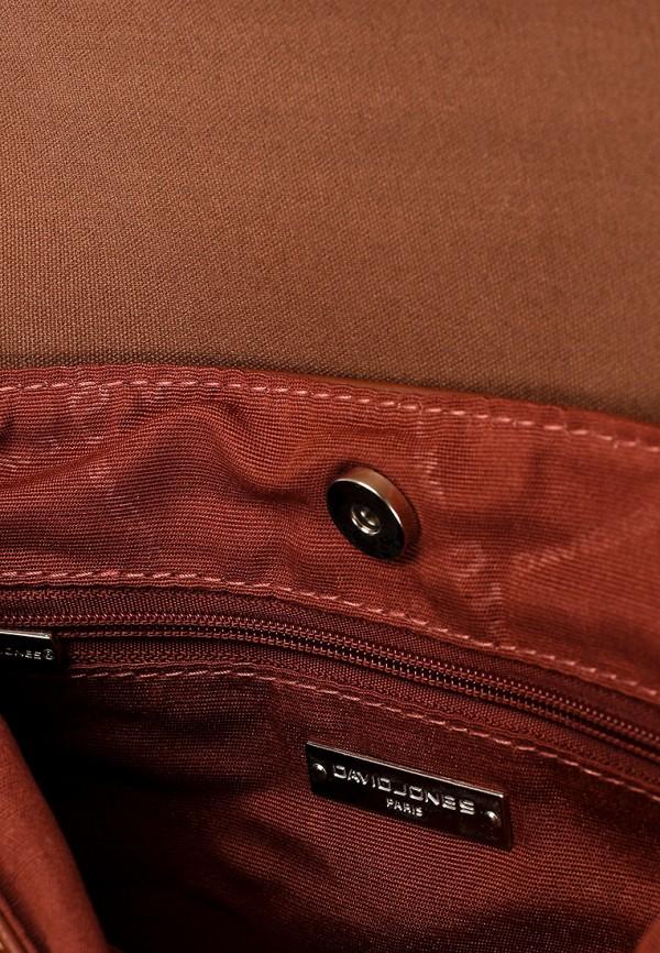 Фото 3 - женскую сумку David Jones коричневого цвета
