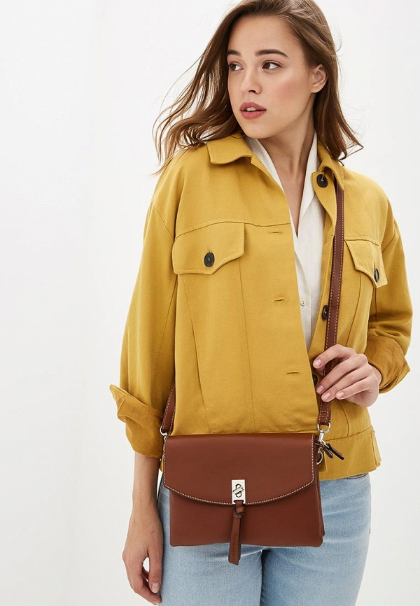 Фото 4 - женскую сумку David Jones коричневого цвета
