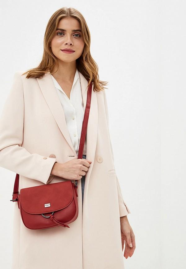 Фото 4 - женскую сумку David Jones красного цвета