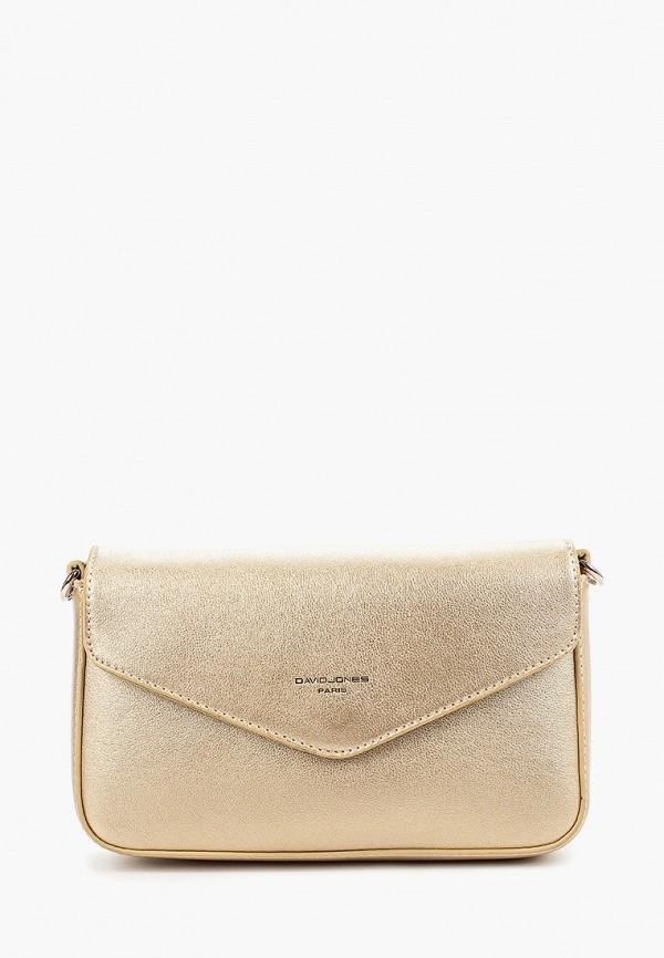 женская сумка david jones, золотая