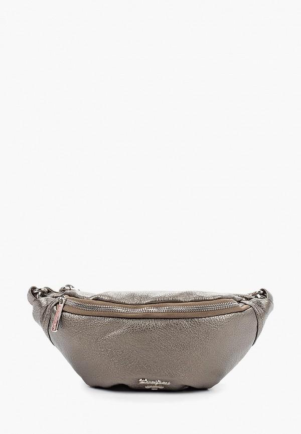 женская сумка david jones, серебряная