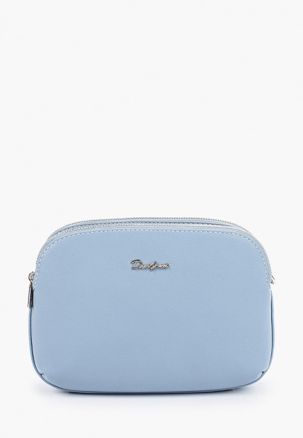 женская сумка через плечо david jones, голубая