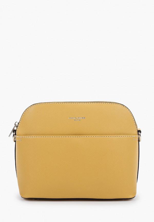 женская сумка через плечо david jones, желтая