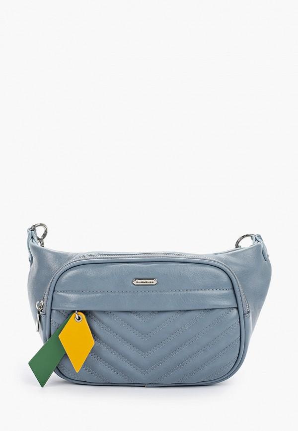 женская поясные сумка david jones, голубая