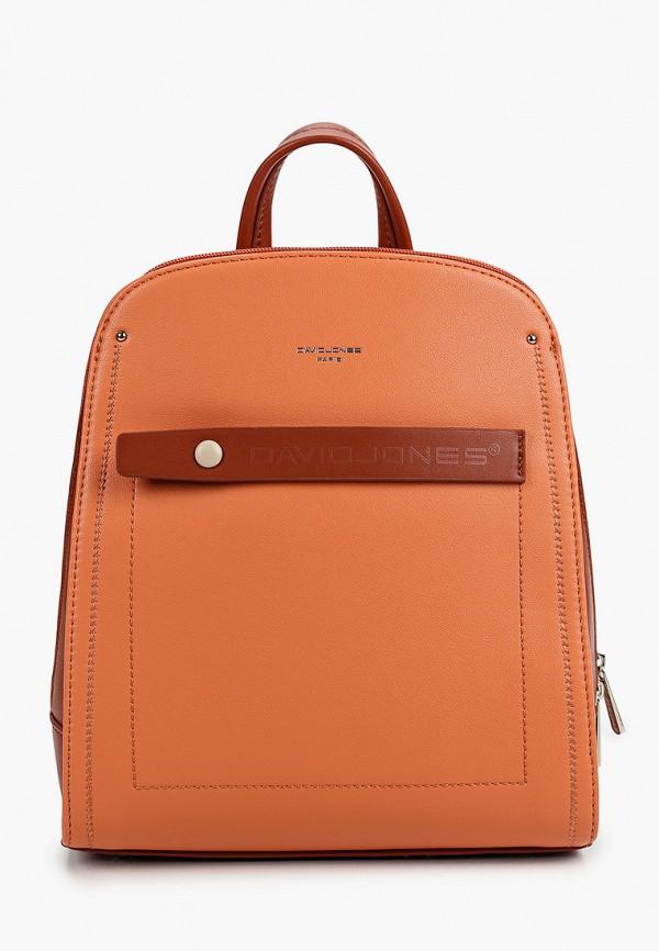 женский рюкзак david jones, оранжевый