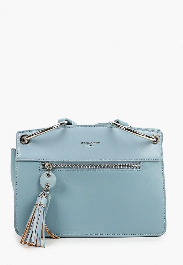 женская сумка david jones, голубая