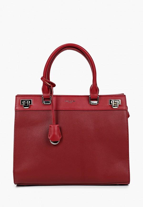 женская сумка david jones, бордовая