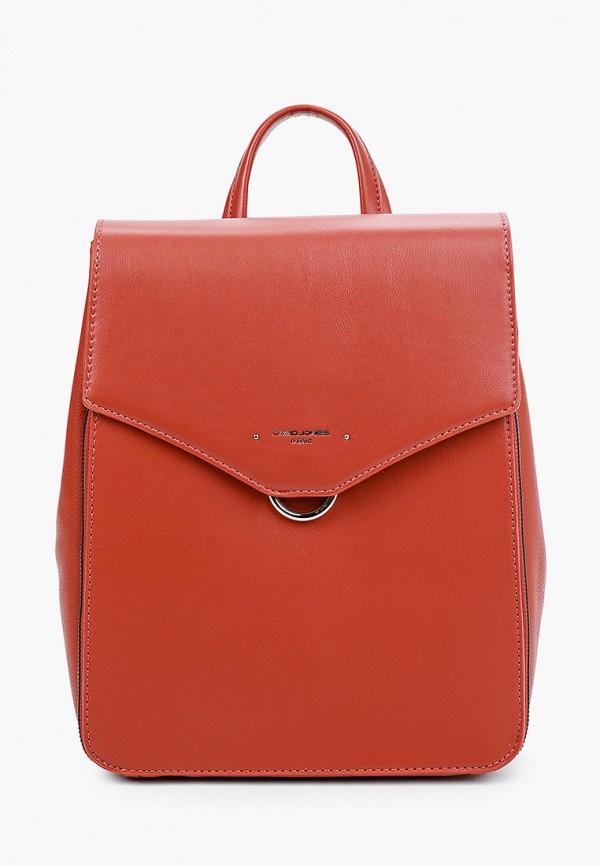 женский рюкзак david jones, коричневый