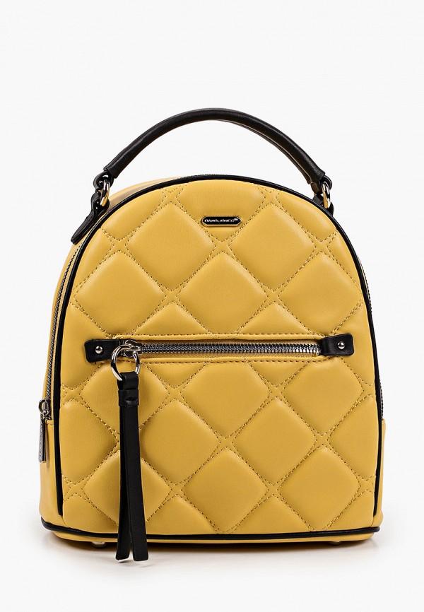 женский рюкзак david jones, желтый
