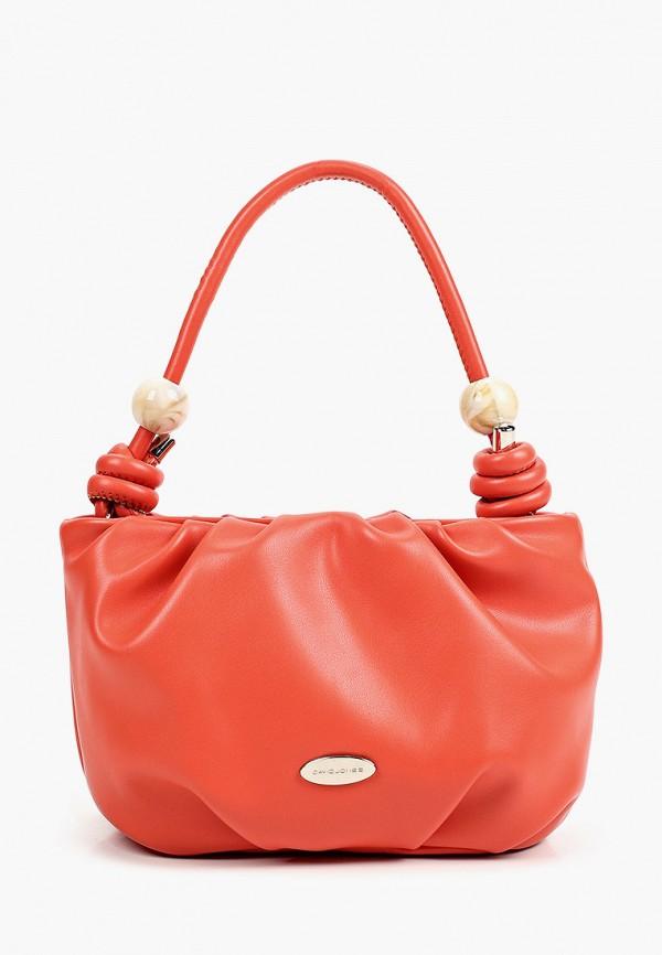 женская сумка с ручками david jones, оранжевая