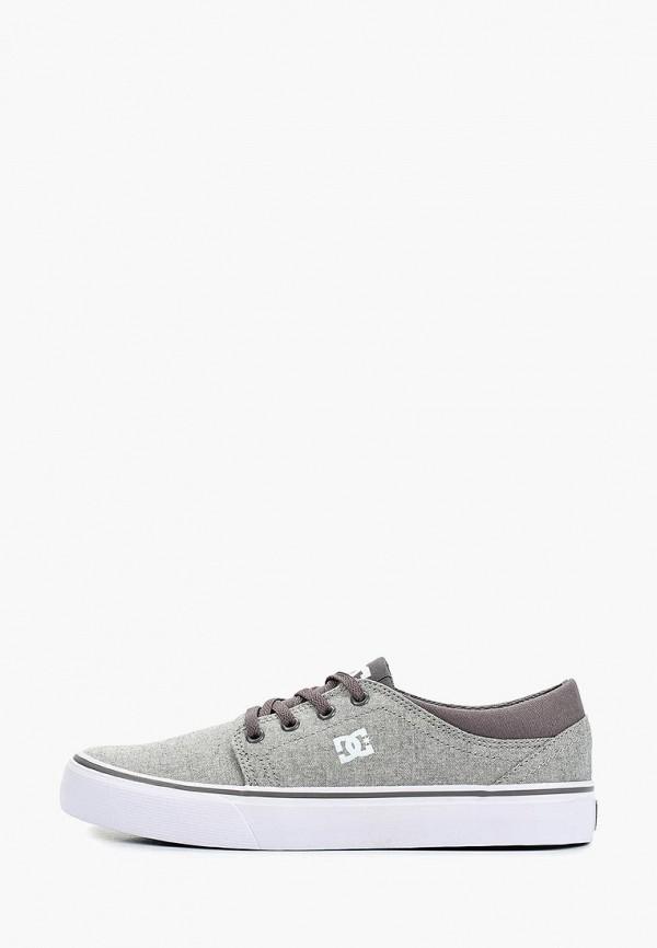 кеды dc shoes для мальчика, серые