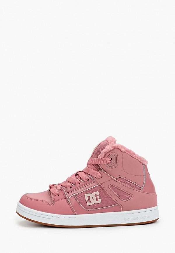 кеды dc shoes для девочки, розовые