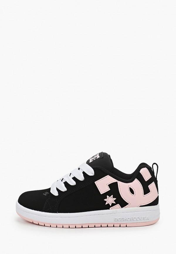 кеды dc shoes для девочки, черные