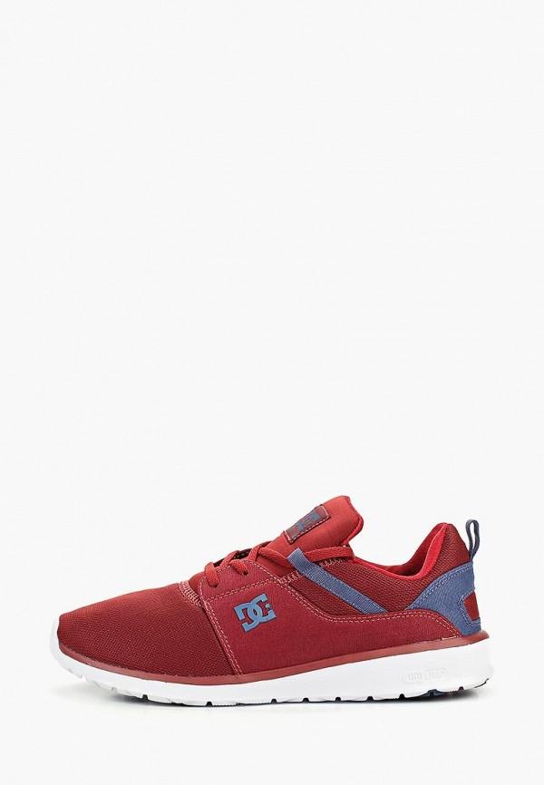 мужские кроссовки dc shoes, бордовые