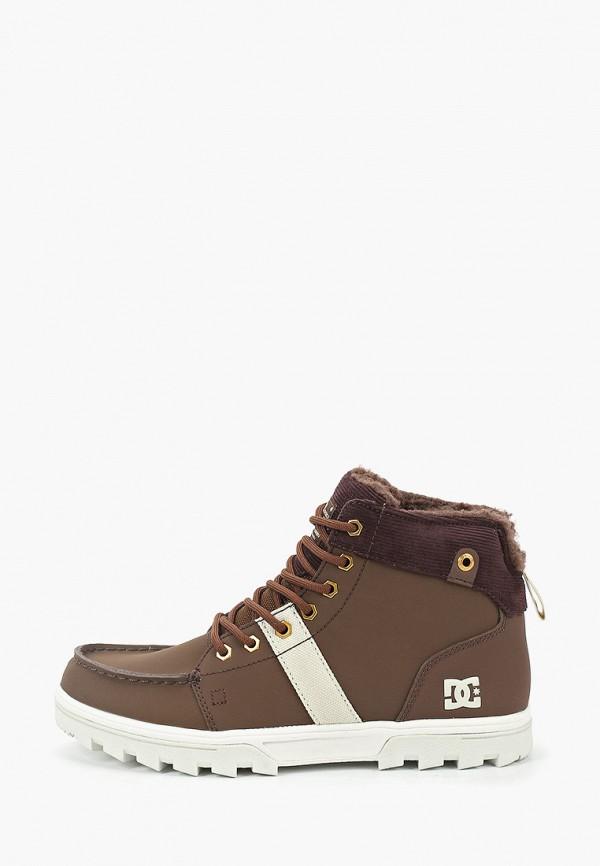мужские высокие ботинки dc shoes, коричневые
