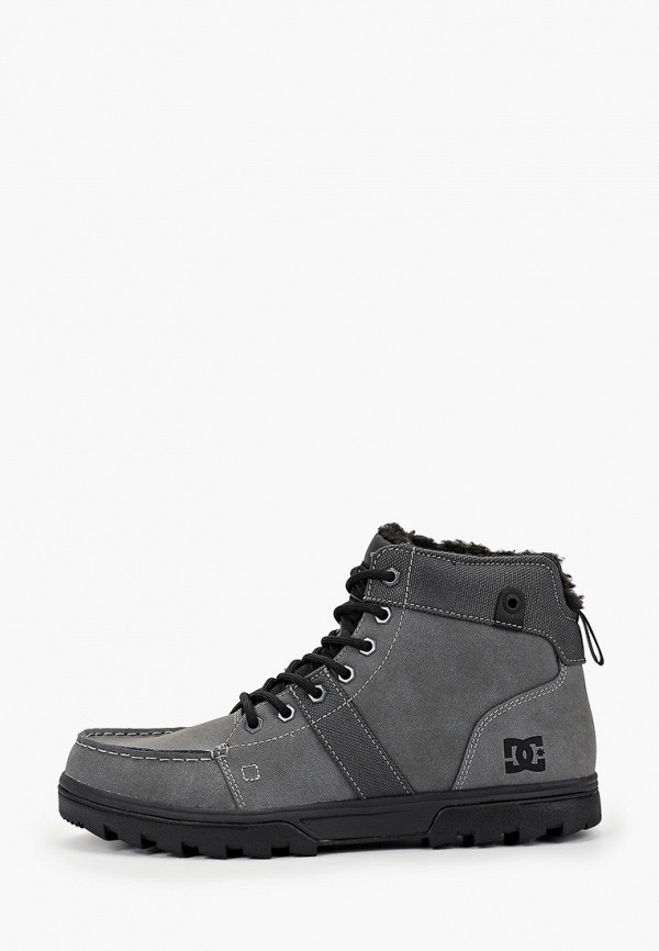 мужские высокие ботинки dc shoes, серые