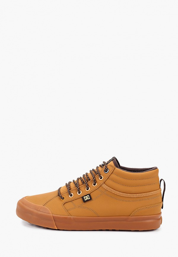 мужские высокие кеды dc shoes, коричневые