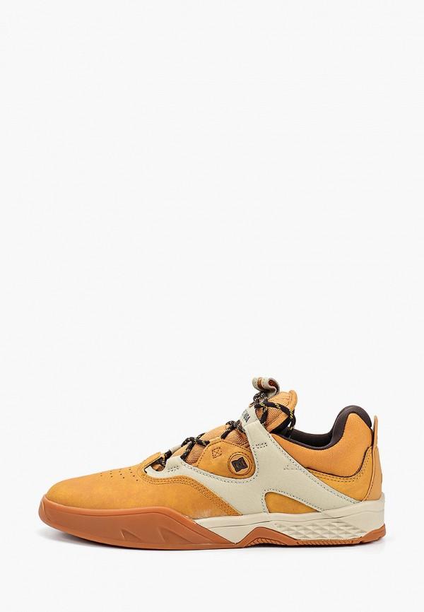 мужские кроссовки dc shoes, коричневые