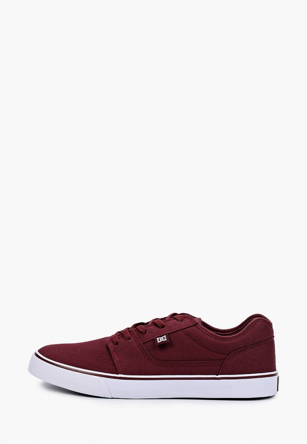 мужские низкие кеды dc shoes, бордовые
