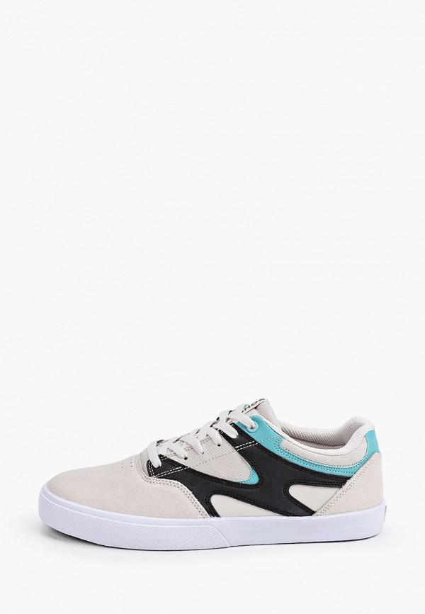 мужские низкие кеды dc shoes, серые