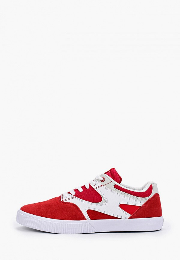 мужские низкие кеды dc shoes, красные