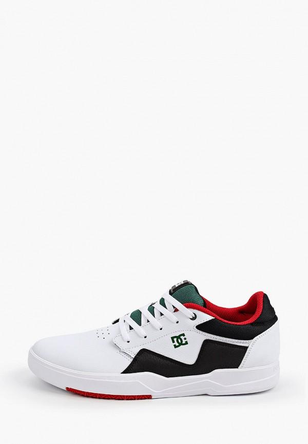 мужские низкие кеды dc shoes, белые