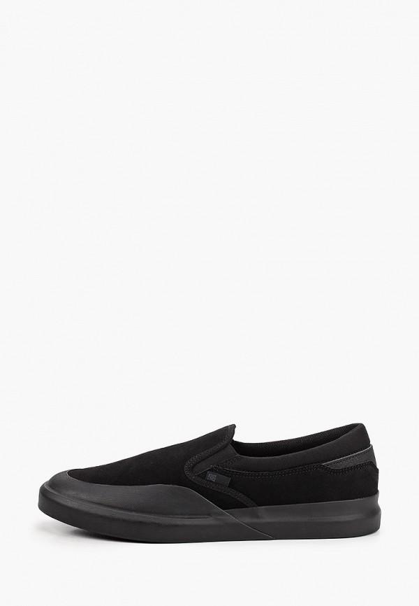 мужские слипоны dc shoes, черные