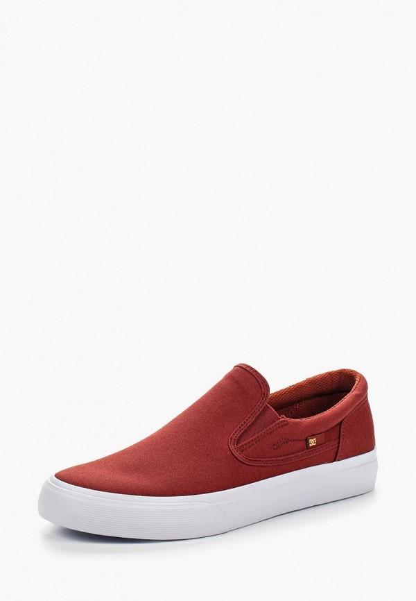 мужские слипоны dc shoes, красные