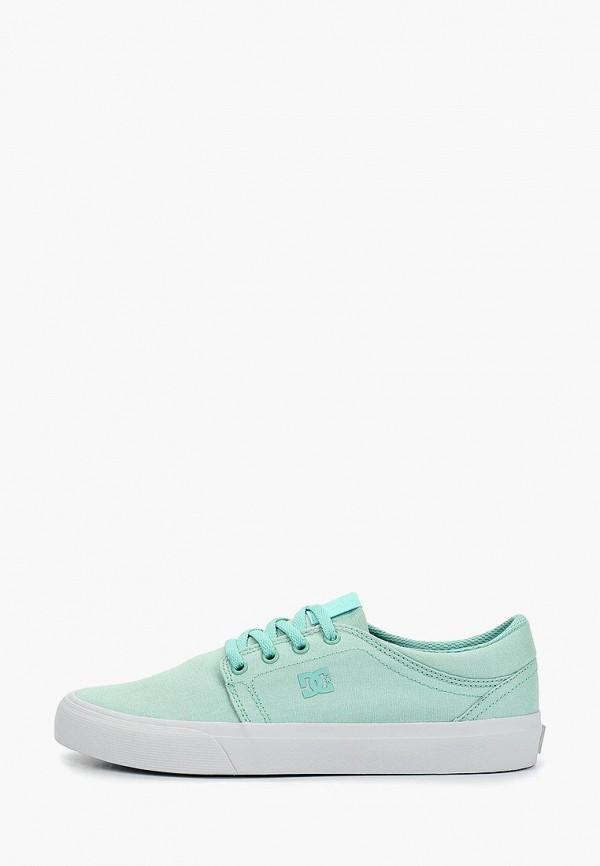 женские кеды dc shoes, бирюзовые