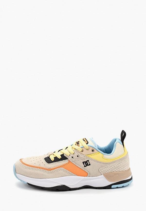 женские кроссовки dc shoes, бежевые