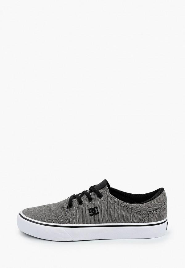 женские низкие кеды dc shoes, серые