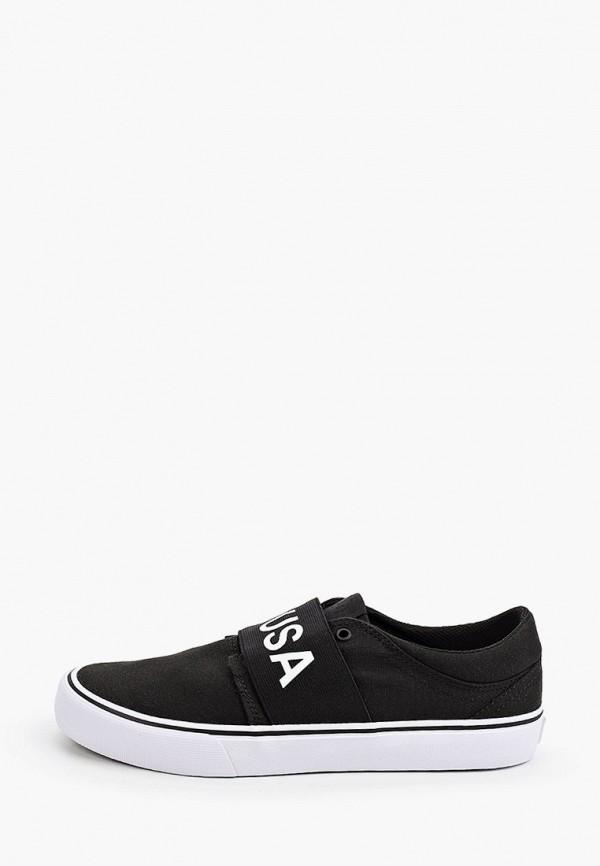 женские слипоны dc shoes, черные