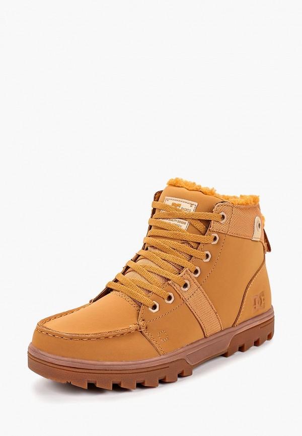 женские ботинки dc shoes, коричневые