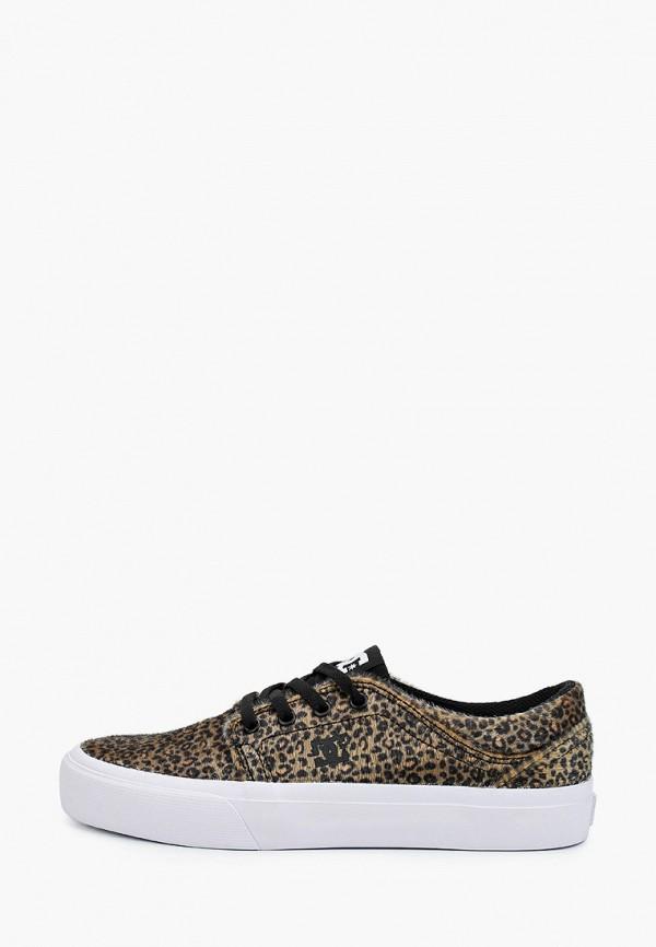 женские кеды dc shoes, коричневые