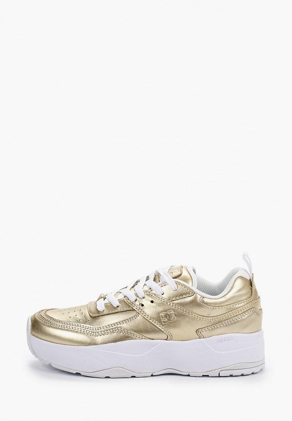 женские кроссовки dc shoes, золотые