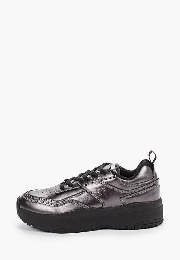 женские кроссовки dc shoes, серебряные