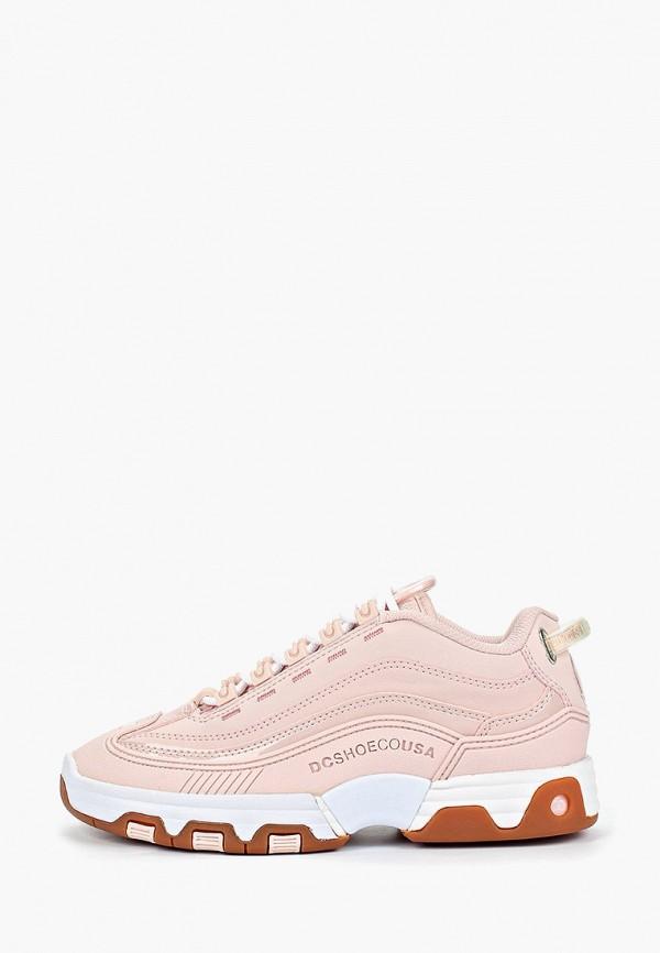 женские кроссовки dc shoes, розовые