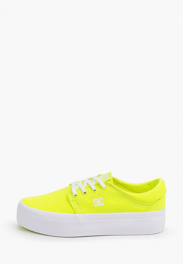 женские кеды dc shoes, желтые