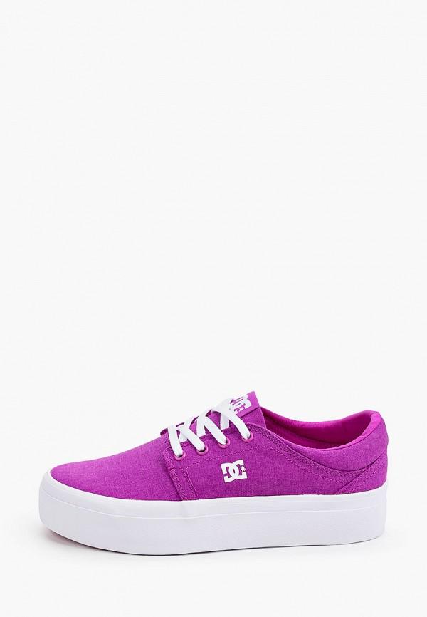 женские кеды dc shoes, фиолетовые
