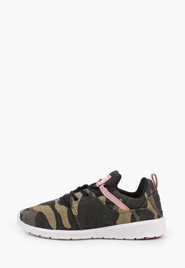 женские низкие кроссовки dc shoes, хаки
