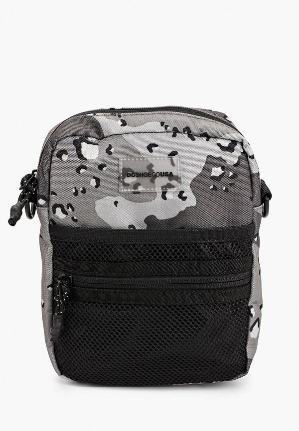 мужская сумка через плечо dc shoes, серая