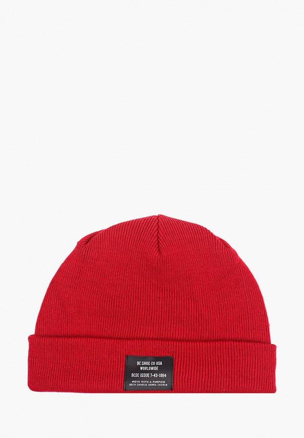 мужская шапка dc shoes, красная