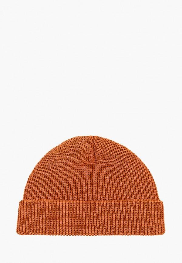 женская шапка dc shoes, оранжевая